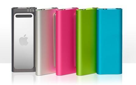 iPod Shuffle five colors