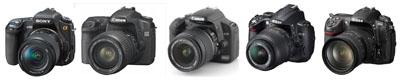 Sony A350_Canon EOS 50D_ Canon EOS 450D_Nikon D5000_Nikon D300