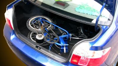 Exceed Ebike fits in the trunk