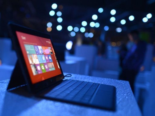 the Surface tablet with Windows 8 OS