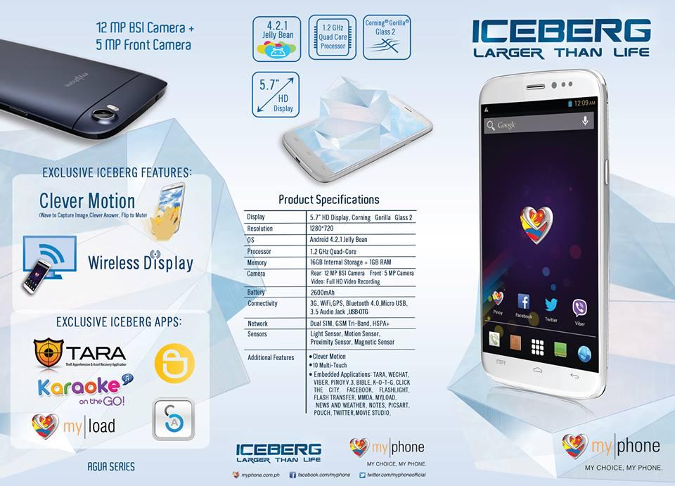 MyPhone Iceberg Specs