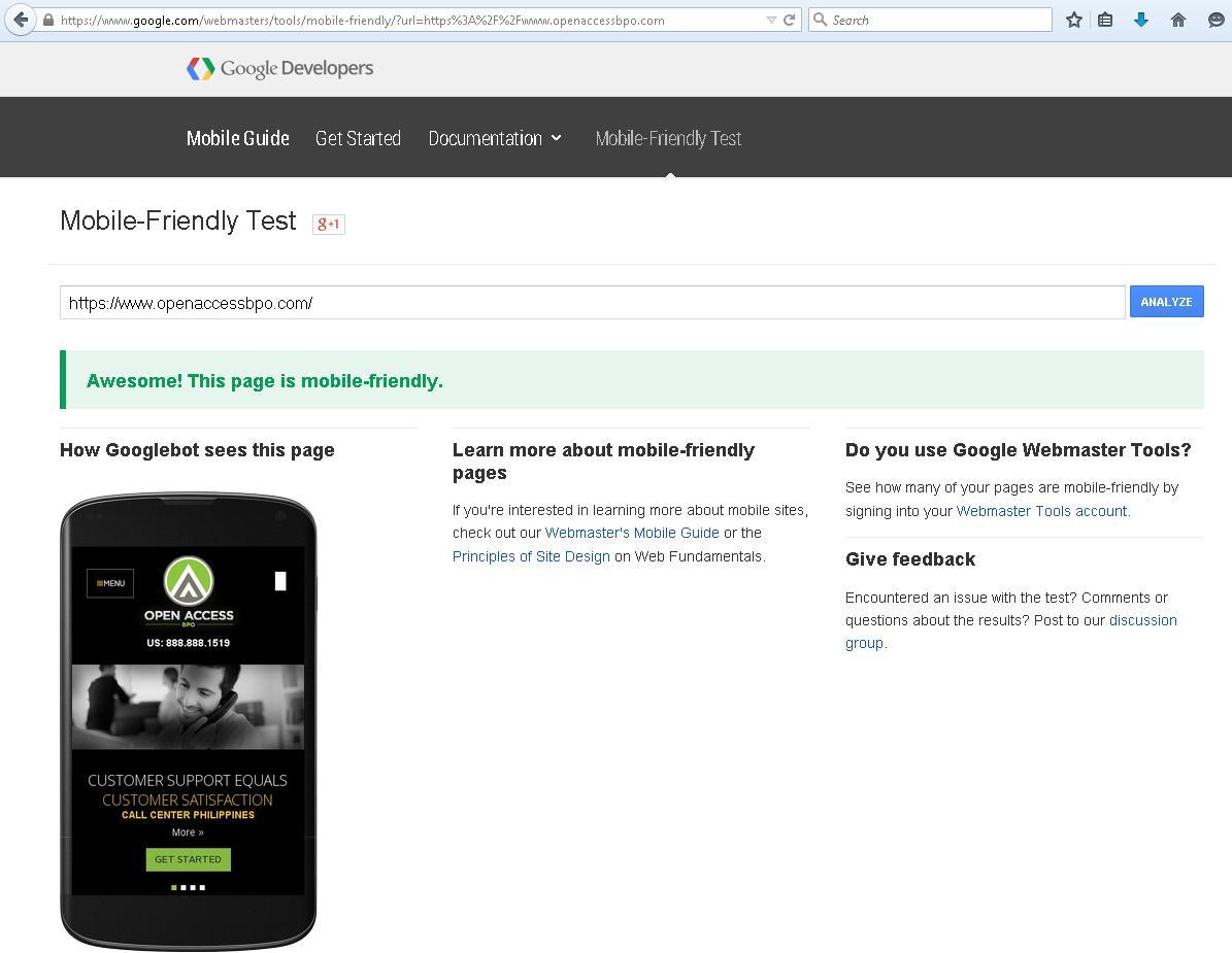 how to make google show mobile cersion of websitr