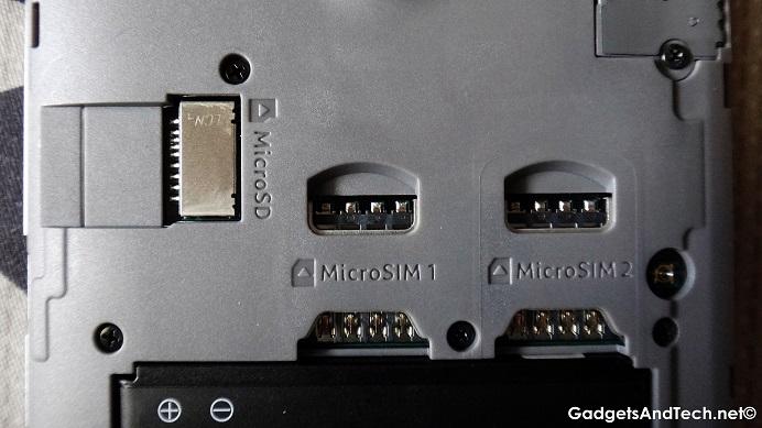 Acer Liquid Z520 sim card ports