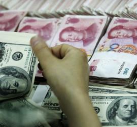 dollars and chinese yuan
