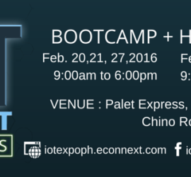 IoT Philippines Bootcamp and Hackathon Schedule