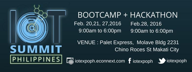 IoT Philippines Bootcamp and Hackathon Schedule