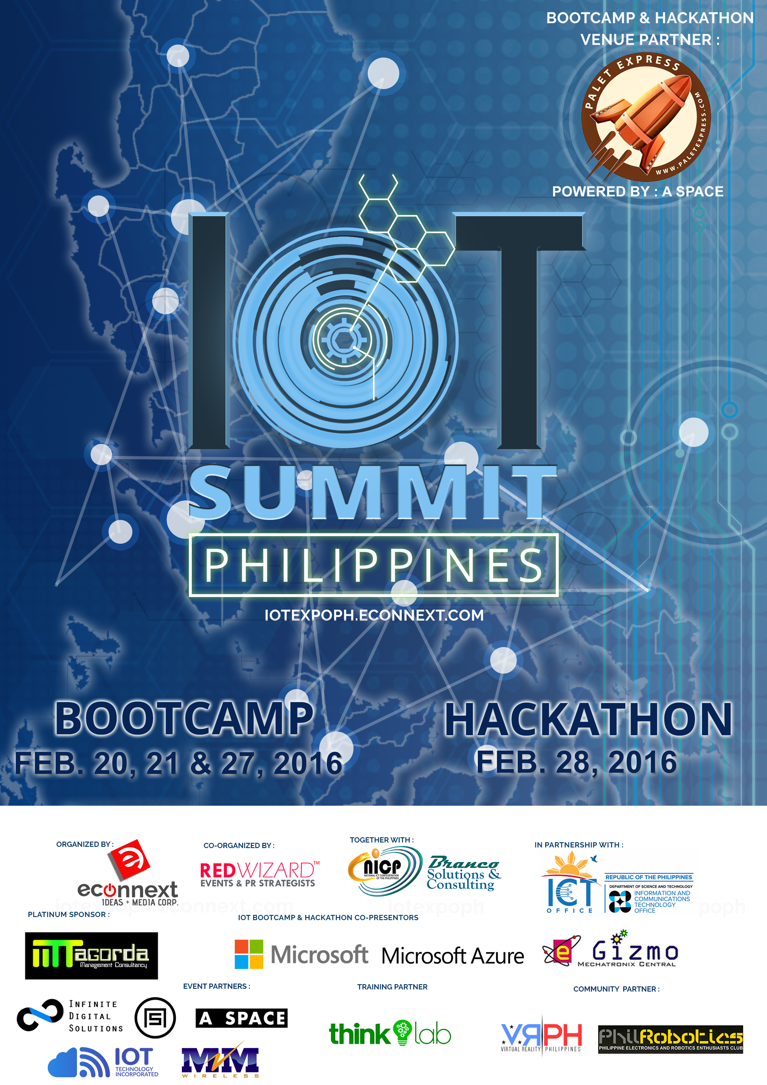 IoT Summit Philippines Bootcamp and Hackathon Poster