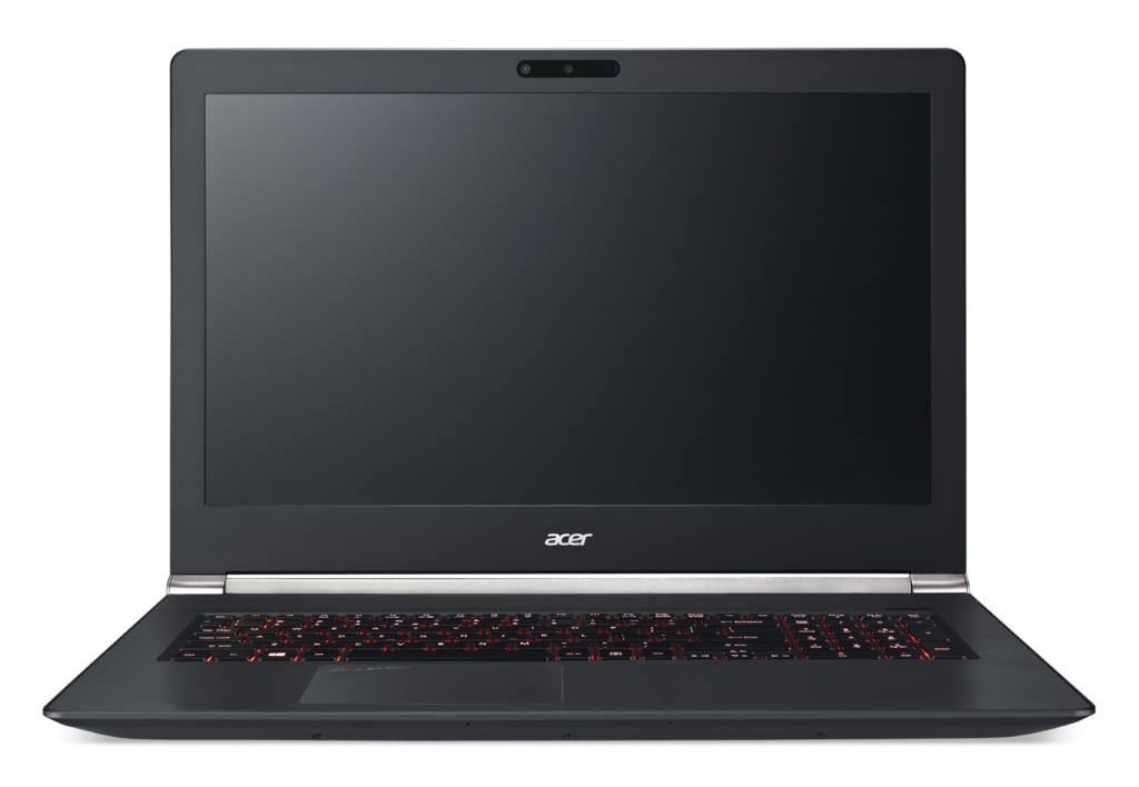 Acer V Nitro Black Edition keyboard and screen view