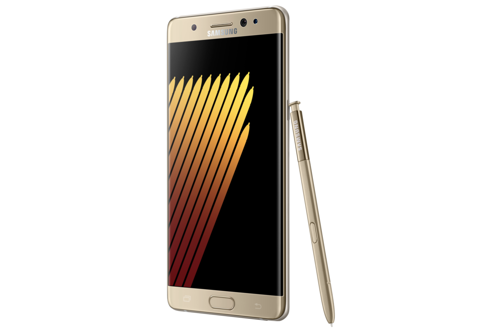 Samsung Galaxy Note7 gold side