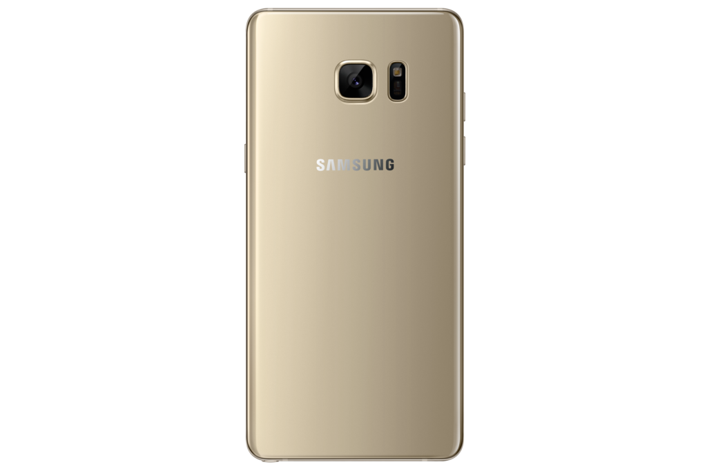 Samsung Galaxy Note7 gold back