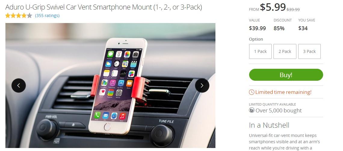 aduro-u-grip-swivel-car-vent-smartphone-mount-on-groupon
