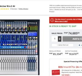 Guitar Center has presonus studiolive 16.4.2 at a great price