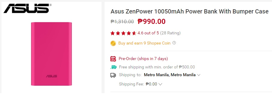 ASUS ZenPower 10050mAh power bank - Gadgets and Tech's summer must haves from Shopee