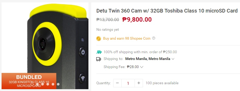 DETU Twin 360 Cam - shopee item wishlist 10