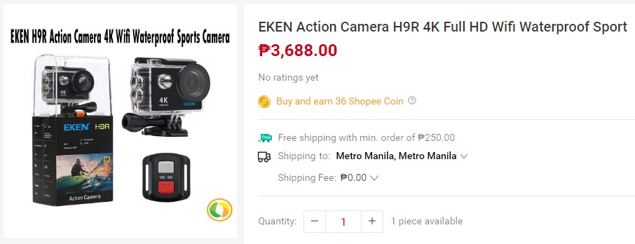 EKEN Action Camera H9R 4K Full HD - Gadgets and Tech's summer must haves from Shopee