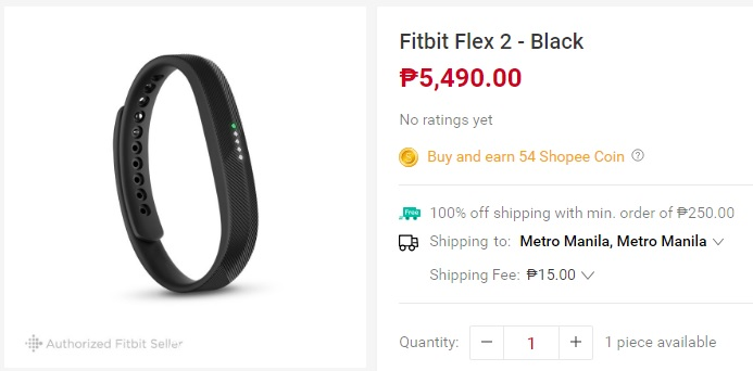 Fitbit Flex 2 black - Gadgets and Tech's summer must haves from Shopee