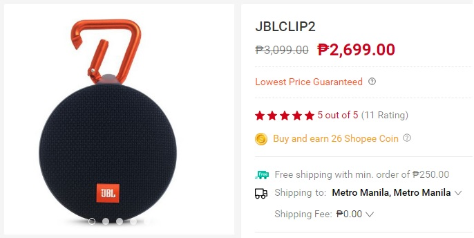 JBL Clip 2 - Gadgets and Tech's summer must haves from Shopee