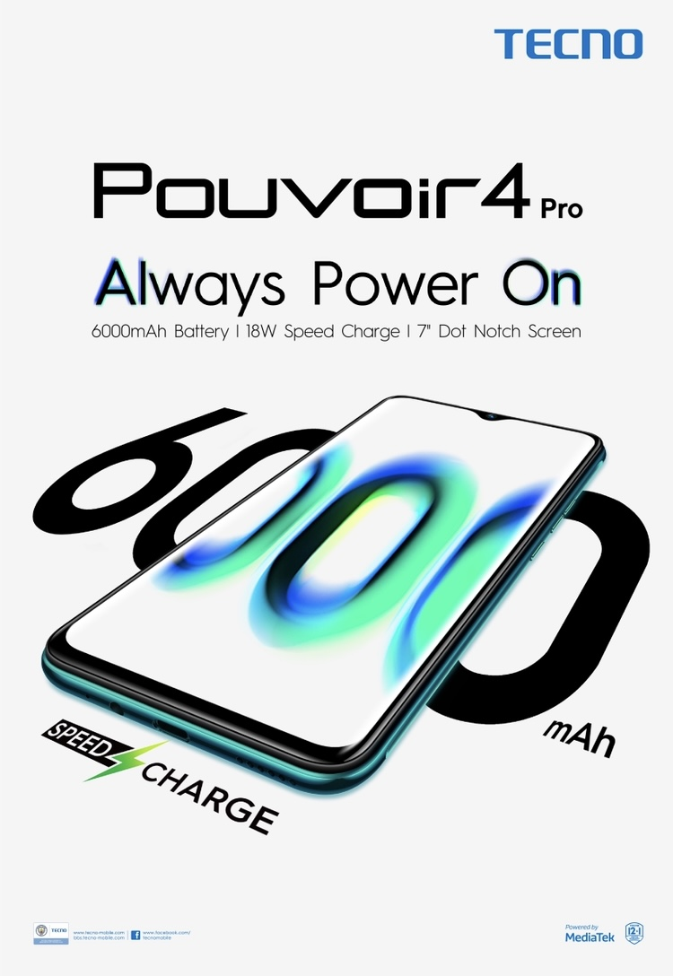 TECNO Mobile launched the Pouvoir 4 - a smartphone with four days lasting power