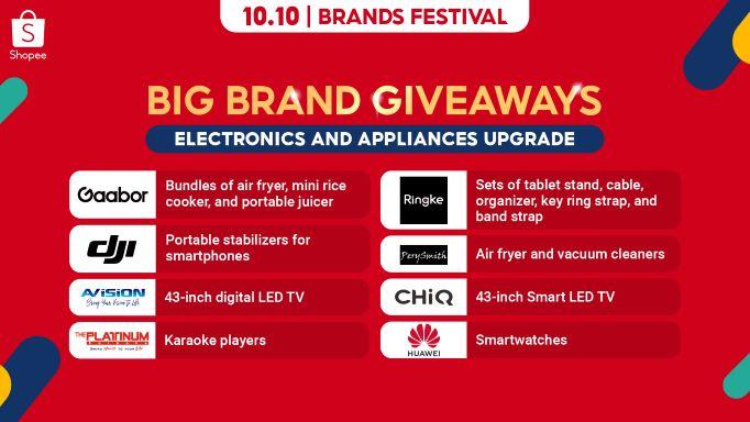 10.10 Big Brand Giveaways Electronics