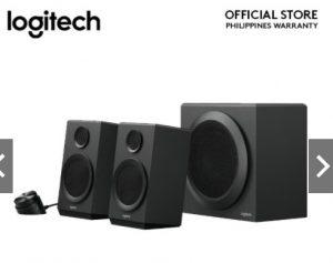 Logitech Z333 2.1 Multimedia Speaker System with Subwoofer, EU PLUG, Rich Bold Sound, 80 Watts Peak